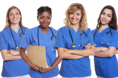 group of four nurses